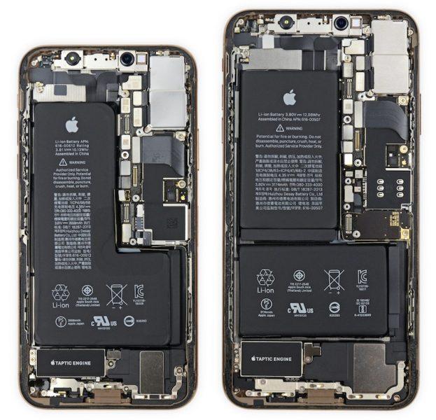 Interior del iPhone Xs y el iPhone Xs Max