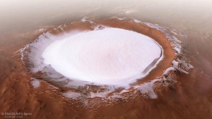 Mars Express Marte cráter Korolev