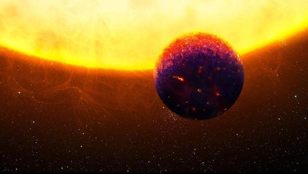 Planeta recubierto de zafiros y rubíes