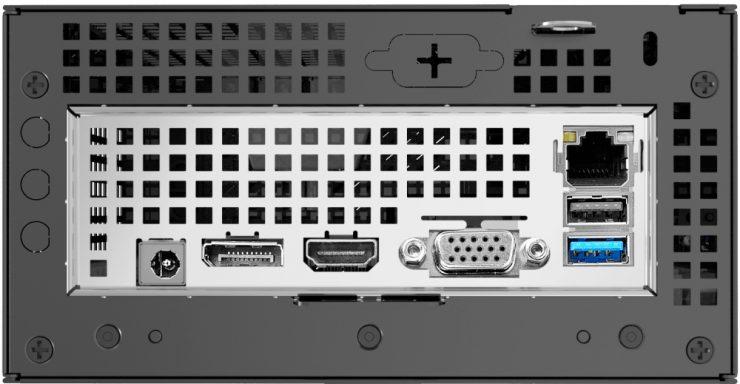Panel trasero del DeskMini A300