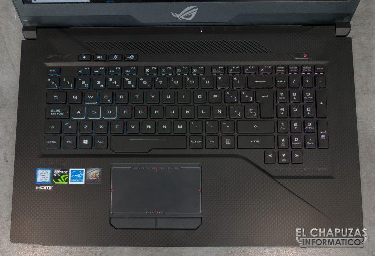 Asus ROG Strix Scar Edition (GL703GS) Teclado
