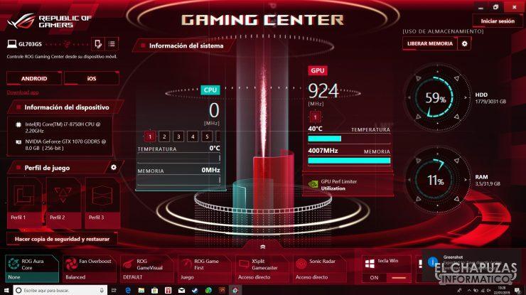 Asus ROG Strix Scar Edition (GL703GS) Gaming Center
