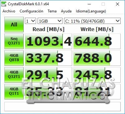 Asus ROG Strix Scar II - GL704GW - CrystalDiskMark