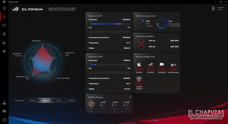 Asus ROG Strix Scar II - GL704GW - Software