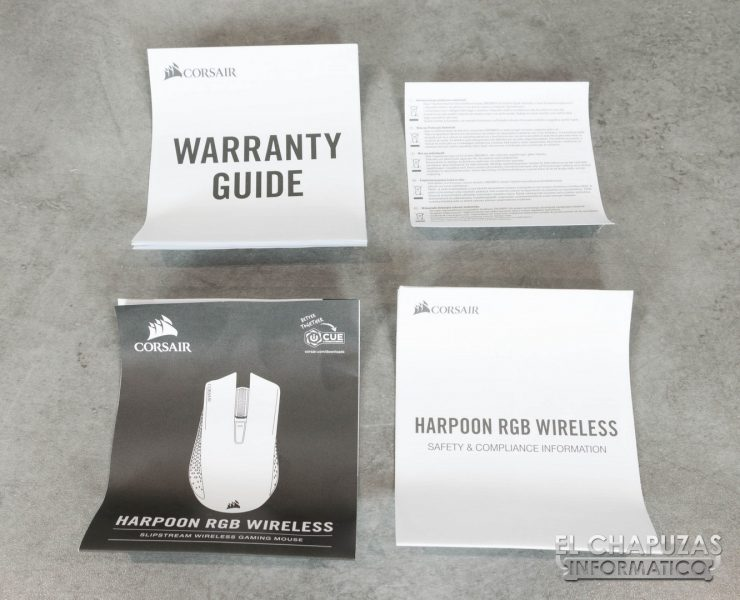 Corsair Harpoon RGB Wireless Documentación