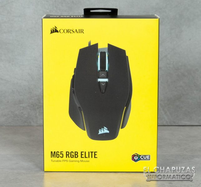 Corsair M65 RGB Elite Embalaje Frontal