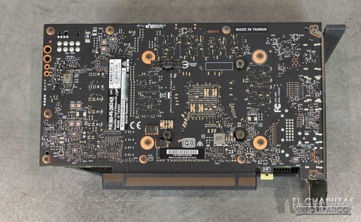EVGA GeForce RTX 2060 XC Gaming Vista Lado Inferior