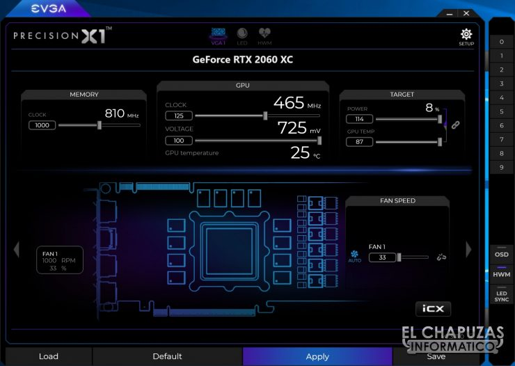 EVGA GeForce RTX 2060 XC Gaming Precision X1