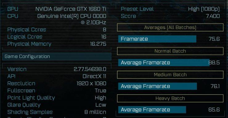 benchmark GeForce GTX 1160 Ti - Ashes of the Singularity
