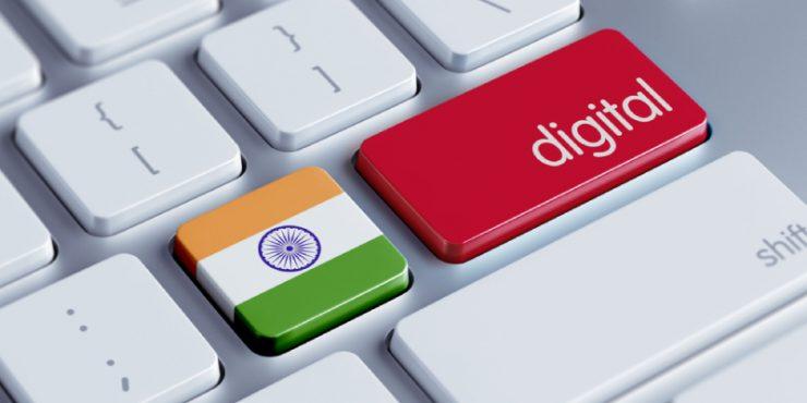 Bandera de India en un teclado