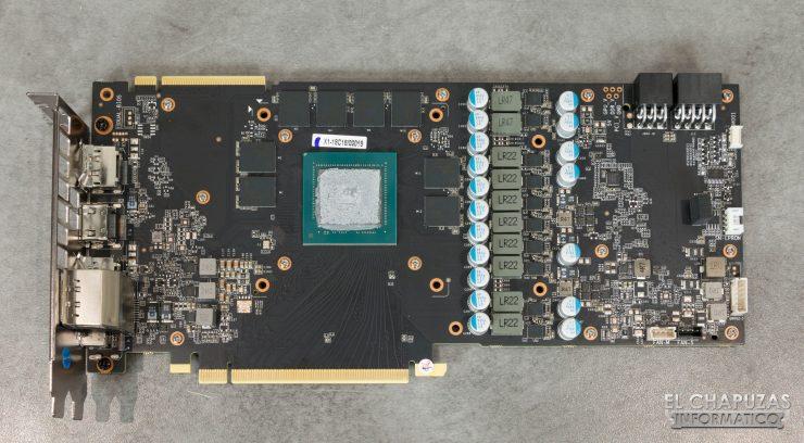 KFA2 GeForce RTX 2080 EX PCB frontal