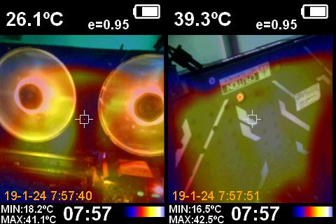 KFA2 GeForce RTX 2080 EX Cámara Térmica