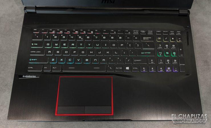MSI GE75 Raider 8RF teclado