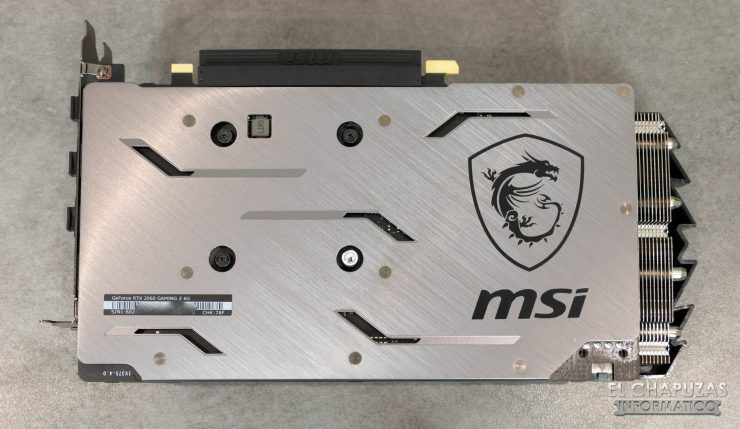 MSI GeForce RTX 2060 Gaming Z Vista Backplate