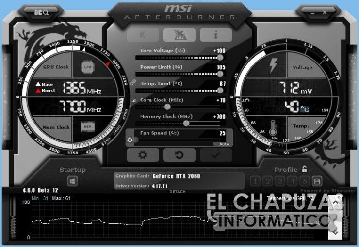 MSI GeForce RTX 2060 Gaming Z Afterburner