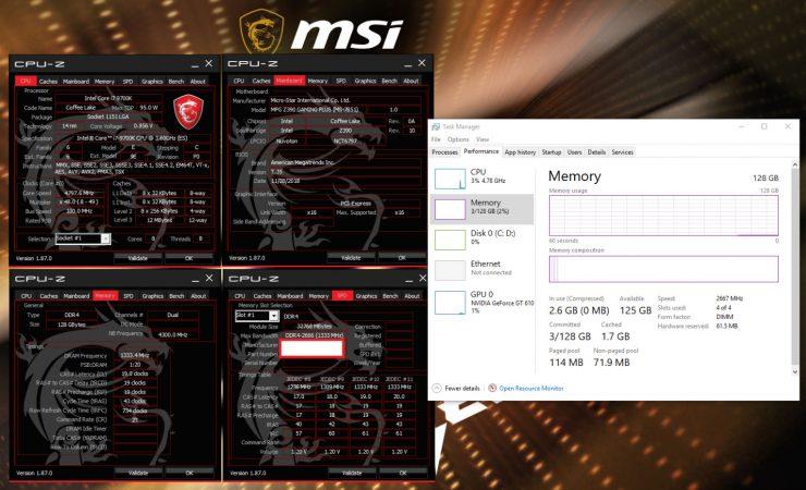 MSI Z390 128GB RAM 740x450 0