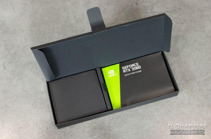 Nvidia GeForce RTX 2060 Founders Edition caja documentación