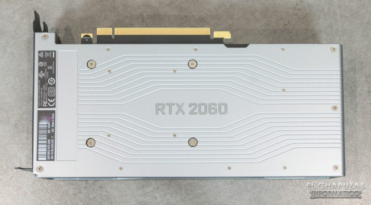 Nvidia GeForce RTX 2060 Founders Edition backplate