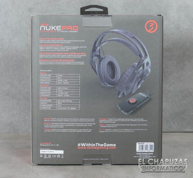 Ozone Nuke Pro Embalaje Trasero