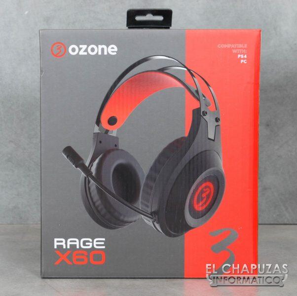 Ozone Rage X60 Embalaje Frontal