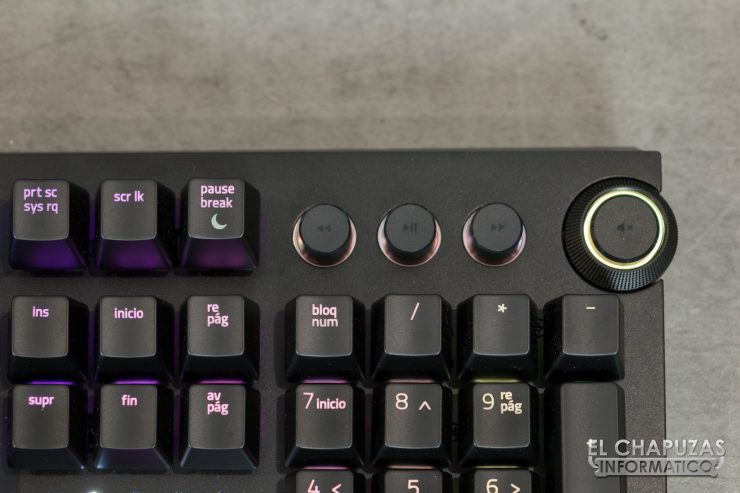 Razer Blackwidow Elite Controles Multimedia