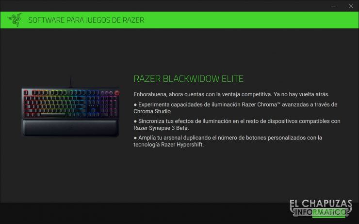 Razer Blackwidow Elite Software 1