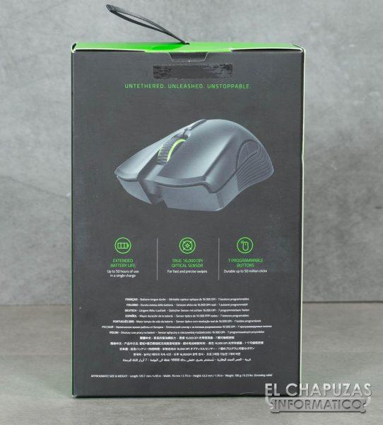 Razer Mamba Wireless Embalaje Trasero