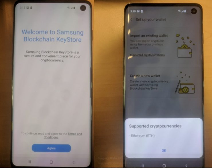 Samsung Galaxy S10 Monedero Criptomonedas 1 740x585 0