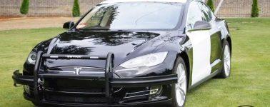 Así lucen los vehículos Tesla de la policía de Fremont, California