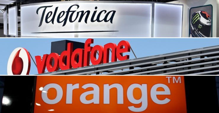 Telefónica, Vodafone y Orange