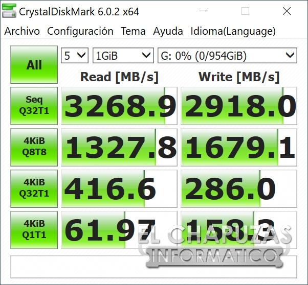 ADATA XPG Gammix S11 Pro CrystalDiskMark