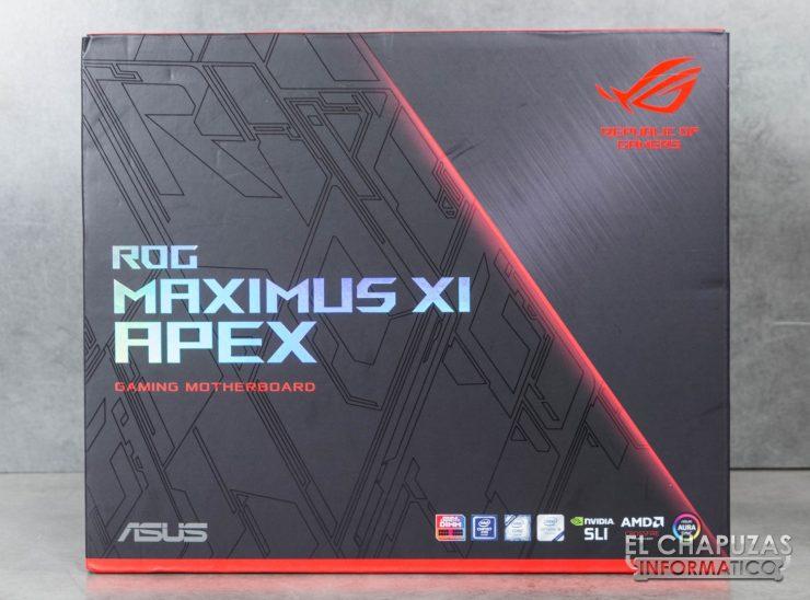 Asus ROG Maximus XI APEX Embalaje Frontal
