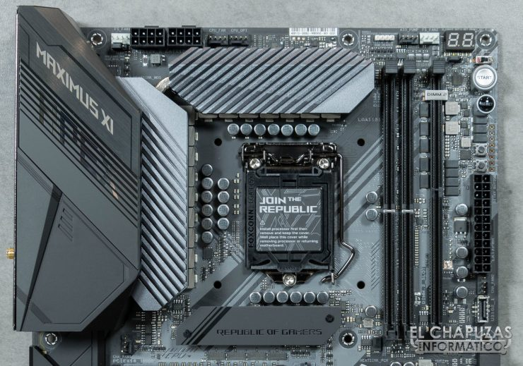 Asus ROG Maximus XI APEX DIMM.2 Vista Frontal Superior