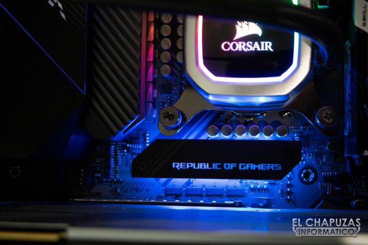 Asus ROG Maximus XI APEX Detalle LED 1