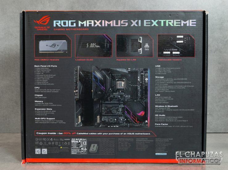 Asus ROG Maximus XI Extreme Embalaje 2