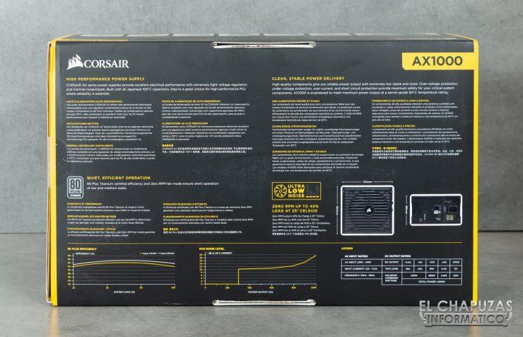 Corsair AX1000 Embalaje Exterior 4