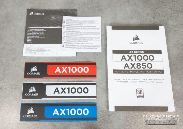 Corsair AX1000 Accesorios 1