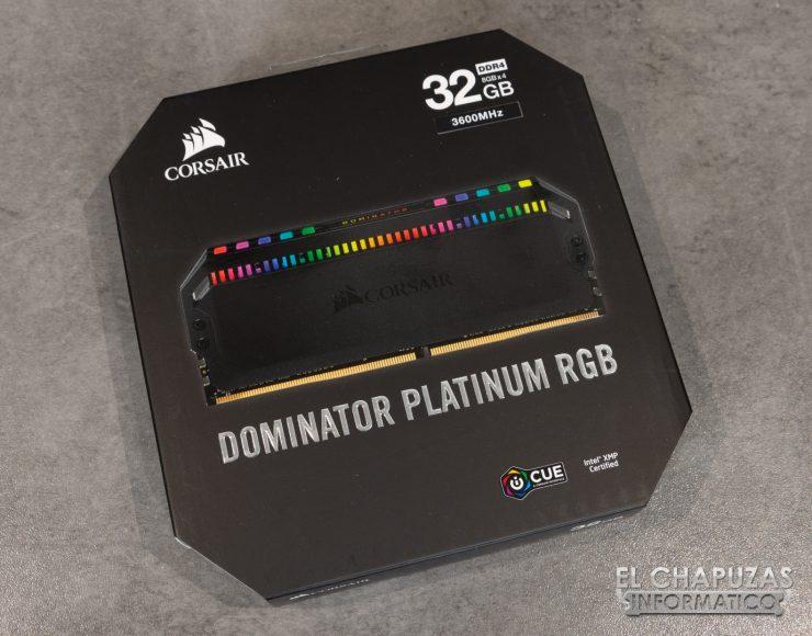 Corsair Dominator Platinum RGB Embalaje 1