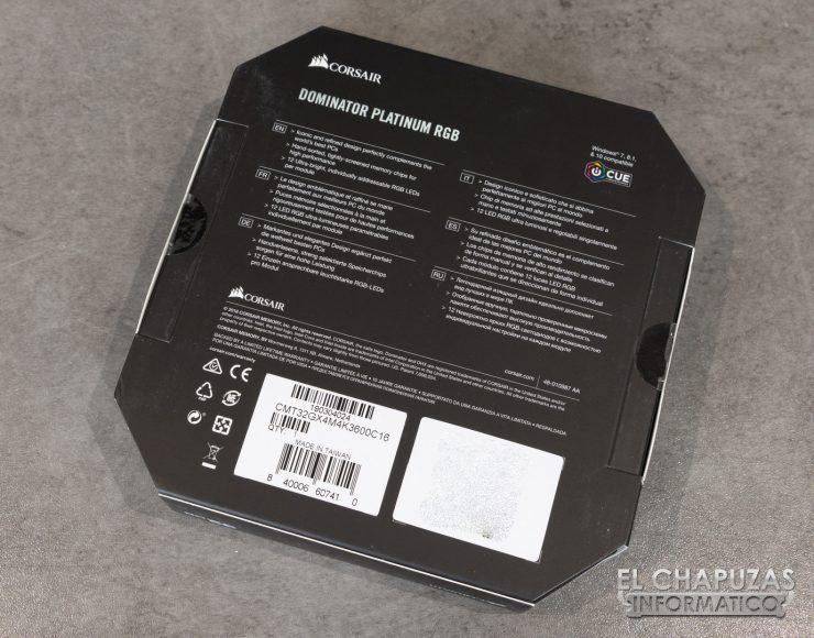 Corsair Dominator Platinum RGB Embalaje 2