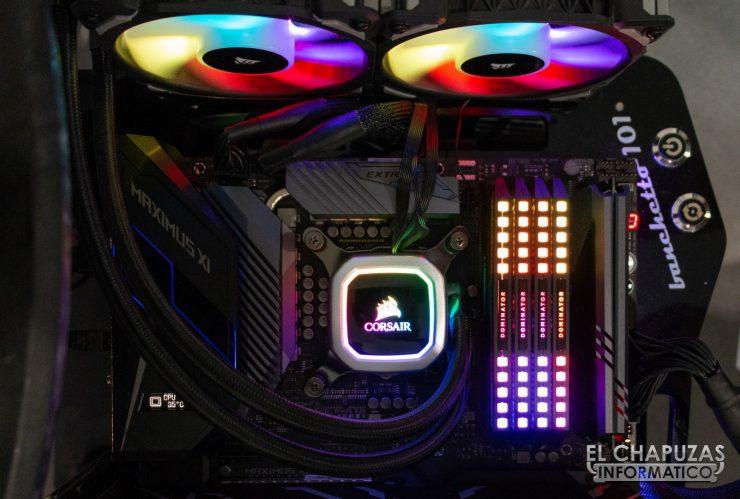 Corsair Dominator Platinum RGB Equipo de Pruebas