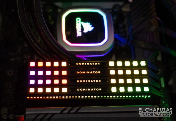 Corsair Dominator Platinum RGB Encendidas