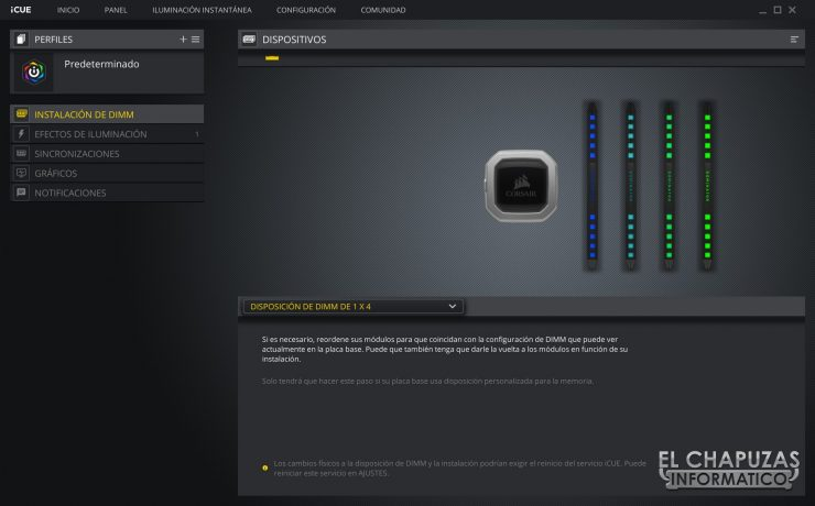 Corsair Dominator Platinum RGB Software 1