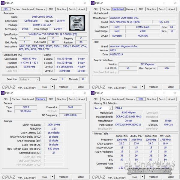 Corsair Dominator Platinum RGB CPU-Z