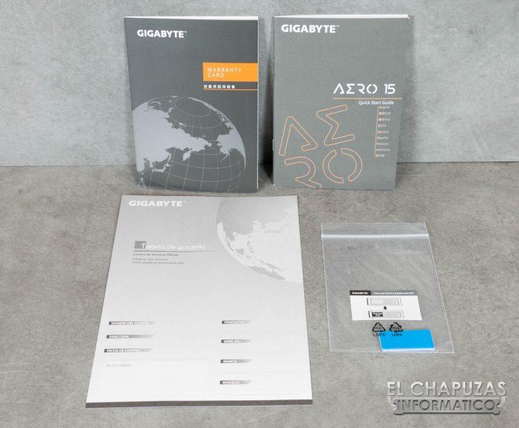 Gigabyte Aero 15-X9 Documentación
