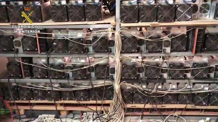 granja de criptomonedas ilegal en España