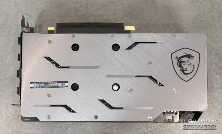 MSI GeForce GTX 1660 Ti Gaming X Backplate