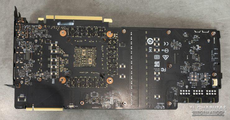 MSI GeForce RTX 2080 Ti Lightning Z PCB Trasero