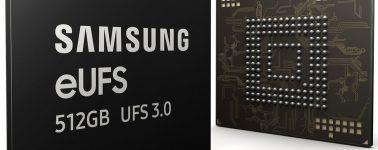 Samsung comienza la producción en masa de su eUFS 3.0 de 512GB para smartphones tope de gama