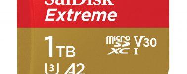 SanDisk anuncia la tarjeta microSD de 1TB más rápida del mercado