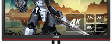 AOC G2868PQU: 28″ 4K @ 60 Hz con AMD FreeSync a precio desorbitado